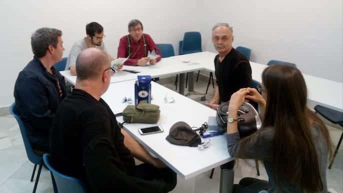 Clase conjunta de esperanto (Antonio) y polaco (Jurek)